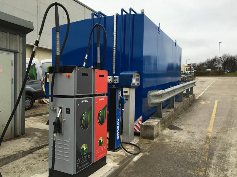 new diesel gas oil bunded tank with island
