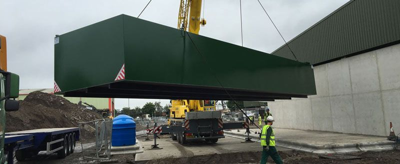 100,000 litre bunded tank being installed