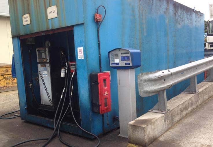old diesel gas oil bunded tank