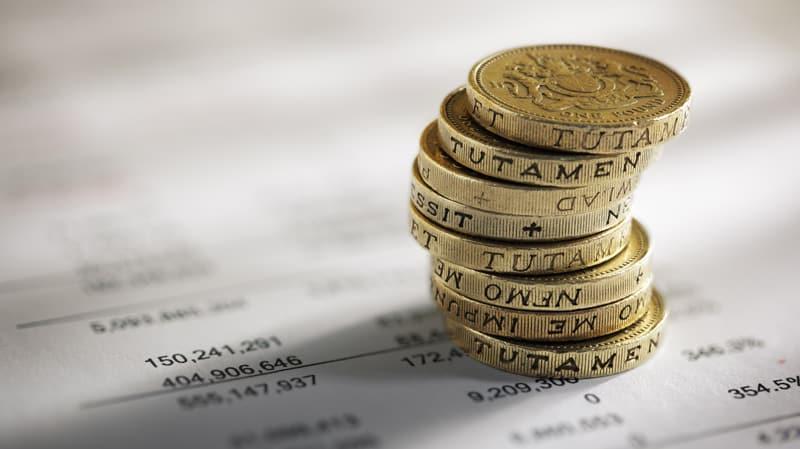 uk pounds on accounts