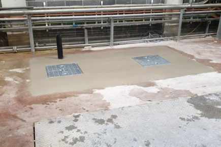 Chemical Resistant GRP Tank Install