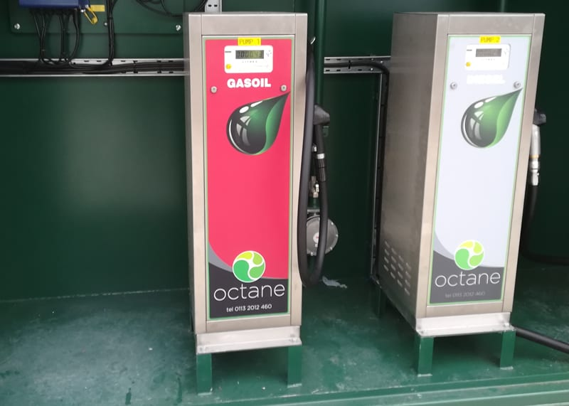 fuel dispensers in a secure housing