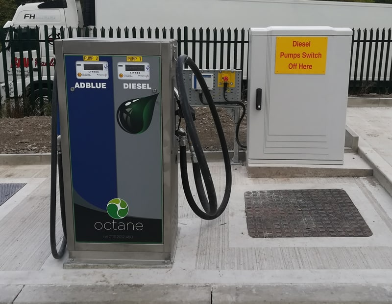 fuel dispensers with emergency stop button